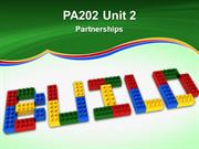 PA202 Unit 2 Partnerships