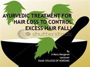 Hair Fall Control By Ms.A.Mary Margaret