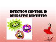 INFECTION CONTROL IN OPERATIVE DENTISTRY