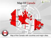 Editable Canada Map PowerPoint Slides