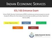 Indian Economic Services (IES) Entrance Coaching in Delhi