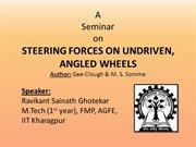 Steering forces on undriven, angled wheels