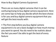 A_Guide_To_Buying_A_Digital_Camera_Equipment