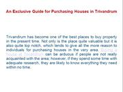 An Exclusive Guide for Purchasing Houses in Trivandrum
