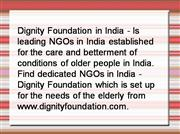 Dignity Foundation in India, NGOs in Ind
