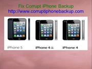 Fix Corrupt iPhone Backup