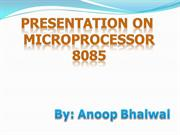 Presentation On Microprocessor 8085