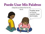 I can use my words - Spanish