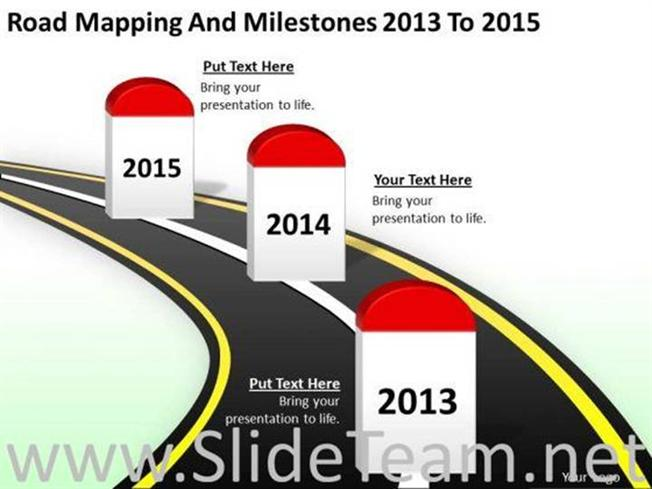 Road Mapping And Milestones Timeline Diagram Powerpoint Diagram