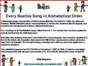 every beatles song in alphabetical order