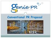 Genie PR Proposal_Conventional PR & Social Media_Escort(PPT)