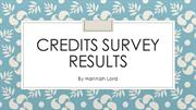 Credits Survey Results