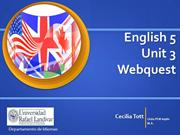 Webquest English 5 Unit 3