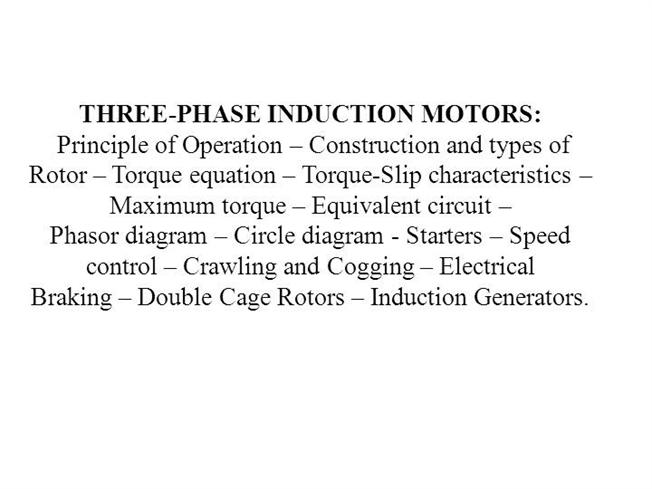 Three phase induction motors authorstream ccuart Gallery