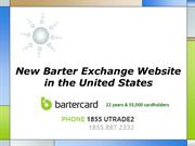 New Barter Exchange Website in the United States
