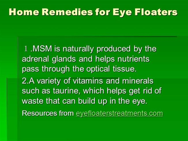 Home Remedies for Eye Floaters |authorSTREAM