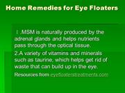 Home Remedies for Eye Floaters