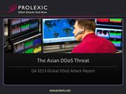 Prolexic DDoS Attack Report:  The Growing DDoS Attack Threat from Asia