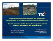 Vietnam sugarcane mechanization