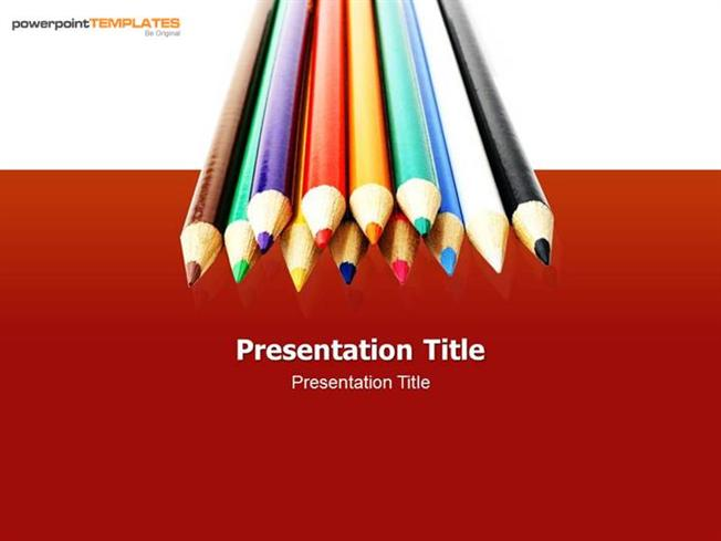 Colors Pencil Powerpoint Templates For Ppt Presentation Authorstream