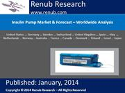 Insulin Pump Market & Forecast – Worldwide Analysis
