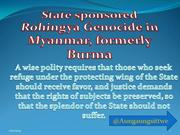 State sponsored Rohingya Genocide