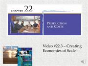 #22.3 -- Economies of Scale (7.50)