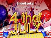 US INDEPENDENCE DAY JULY 4TH POWERPOINT BACKGROUND