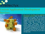 Get custom application development services from reputed I.T. companie