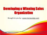 Developing a Winning Sales Organization