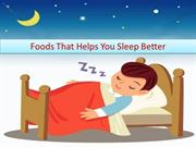 Natural Foods to Help You Sleep Better