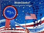 US FLAG INDEPENDENCE DAY 4TH JULY POWERPOINT BACKGROUND