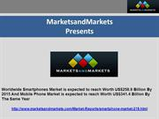 Worldwide Smartphones Market is expected to reach Worth US