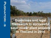 Thailand Solar Energy Power Plants