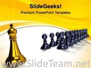 KING IN FRONT PAWNS COMPETITION POWERPOINT BACKGROUND