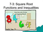 7-3 - Square Root Functions