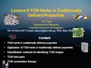 traditional properties TCM