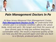Pain Management Doctors In Pa