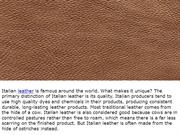Italian leather, wholesale leathers & leather stock lots