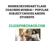 Higher Secondary Class Coaching Mumbai