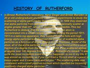 RUTHERFORD PPT