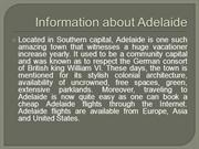 Cheap Adelaide flights and Travel guide