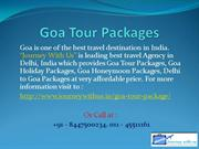 Goa Tour Packages | Goa Honeymoon Packages from Delhi
