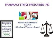 pharmacy ethics as prescribed by PCI