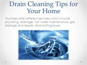 Drain Cleaning Tips for Your Home
