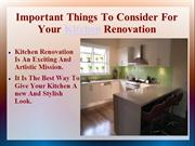Important Things To Consider For Your Kitchen Renovation