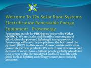12v Solar Rural Systems Electrification Renewable Energy Equipment