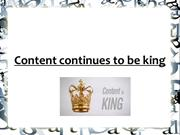 Content continues to be king