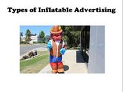 Types of Inflatable Advertising