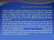 Discovering a Family Law Attorney
